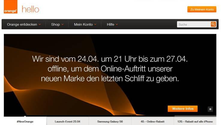 Das Telekommunikations-Unternehmen Orange heisst bald Salt und geht vom 24. April bis zum 27. April offline.