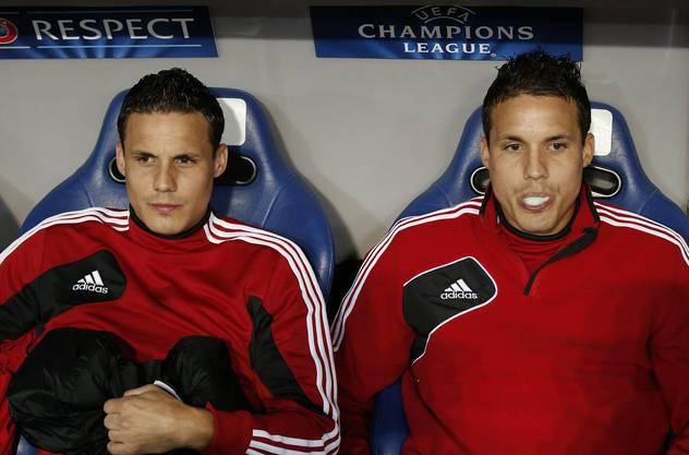 Philipp Degen (rechts) und David Degen als Spieler des FC Basel