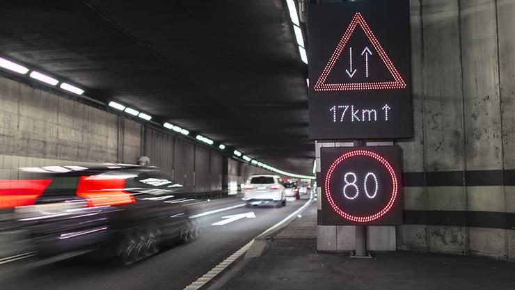 Der Raser aus Deutschland hatte im Gotthard-Autobahntunnel mehrere Autos überholt. (Themenbild)