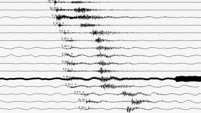 Der Seismograph zeigt die Erdstösse an, die Indonesiens Insel Sumatra erzittern lässt (Symbolbild)