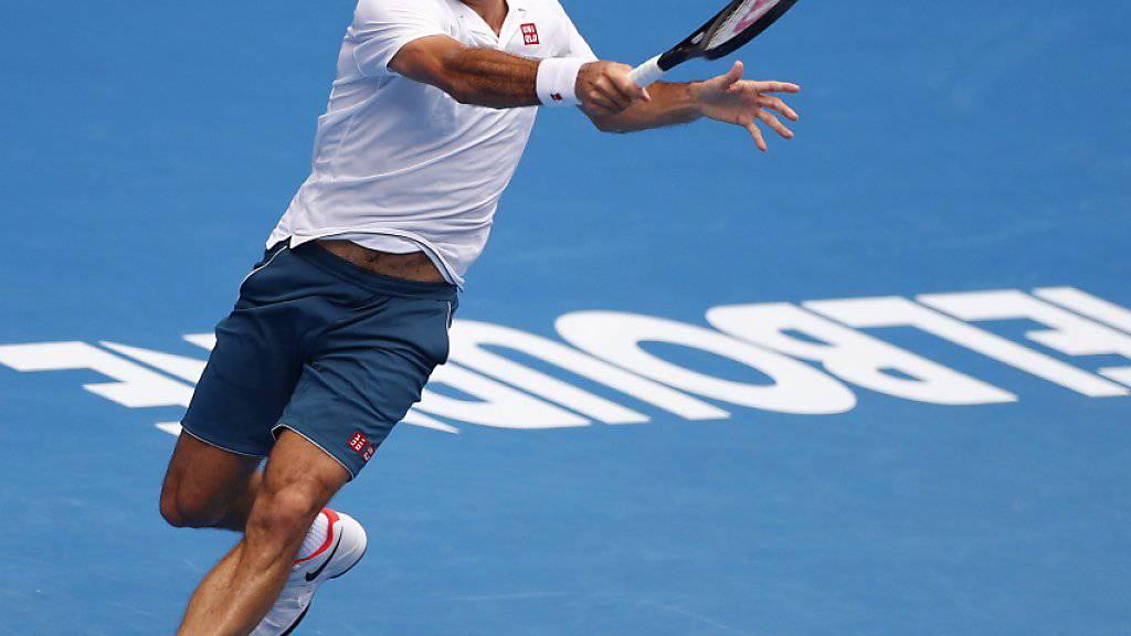 Spielt auch in der 3. Runde am frühen Nachmittag australischer Zeit: Roger Federer