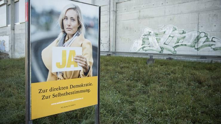 Am 25. November stimmt die Schweiz unter anderem über die Selbstbestimmungsinitiative der SVP ab.
