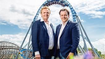 Roland Mack (l.) und sein Sohn Michael sind Vertreter der siebten und achten Generation des Familienunternehmens. In der Führung des Europa-Parks findet derzeit ein Generationenwechsel statt. Sandra Ardizzone