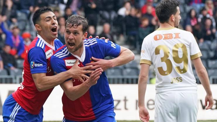Fabian Frei jubelt nach dem entscheidenden Treffer zum 2:0.