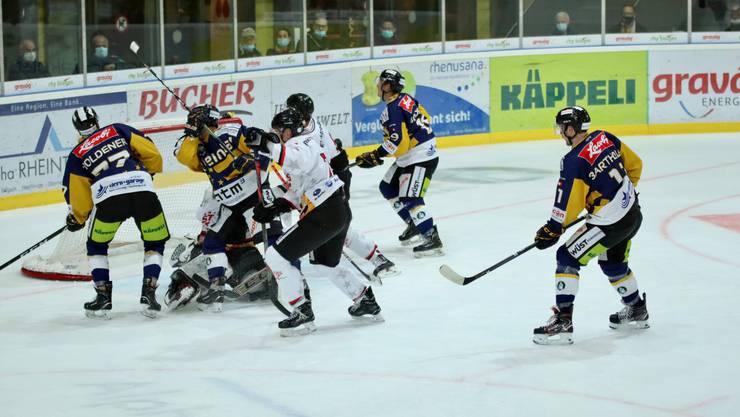 Die Argovia Stars sichern sich beim HC Rheintal drei Punkte.