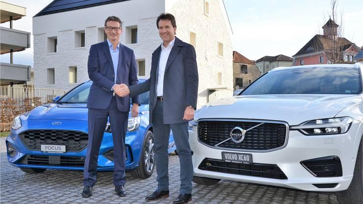 Markus Geissmann (links) und Jörg Geissmann vereinen ihre Kräfte und bieten ab Frühling 2020 ihre Autos als E.Geissmann AG an.