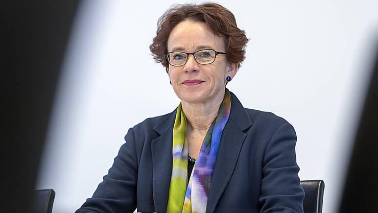 Die Basler SP-Regierungsrätin Eva Herzog tritt per Ende Januar 2020 zurück. Im Herbst kandidiert sie für den National- und für den Ständerat. (KEYSTONE/Georgios Kefalas)