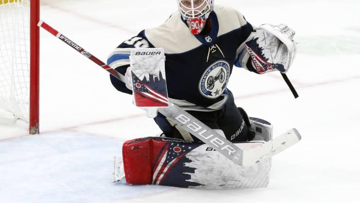Elvis Merzlikins schlug in der NHL ein