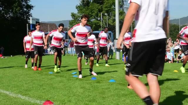 U21-Nationalmannschaft trainiert in Härkingen