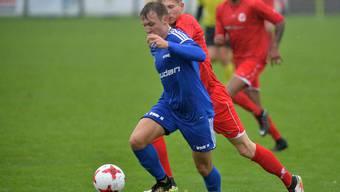 Der FC Subingen, hier im Bild Kevin Künzler, kann Meister werden wenn Fulenbach bei Blustavia nicht gewinnt.