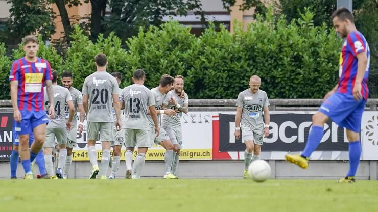 Der eingewechselte Markus Neumayr sorgt kurz vor Schluss mit seinem Treffer zum 3:1 für klare Verhältnisse