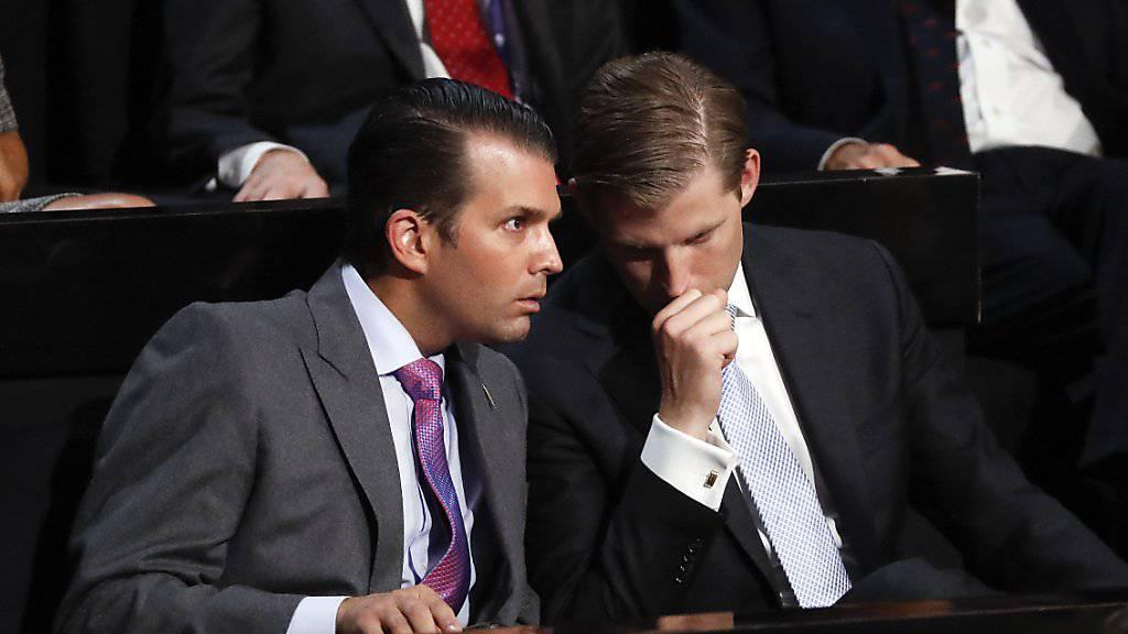 Donald Trump Jr (l) und Eric Trump, neue Eigentümer des Firmenimperiums
