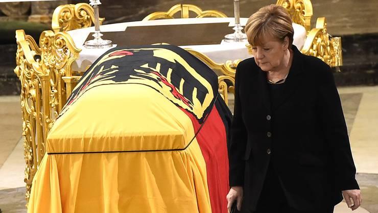 Bundeskanzlerin Angela Merkel nahm an der Zeremonie teil.
