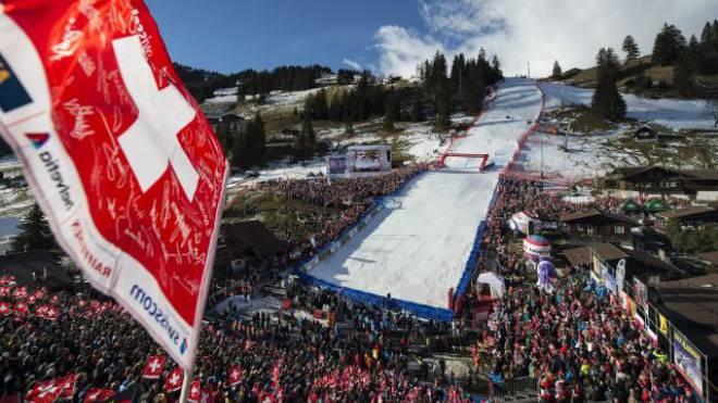 Heimspiel ohne sportliche Highlights: In Adelboden setzten die Schweizer Männer ihre Riesenslalom-Misere nahtlos fort. Foto: Schneider/Keystone