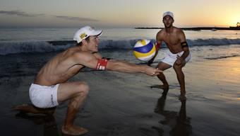 Mats Kovatsch (l.) und Sébastien Chevallier beendeten ihre Karrieren im besten Beachvolleyball-Alter.
