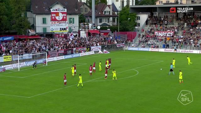 Challenge League, 2017/18, 3. Runde, FC Winterthur – FC Aarau, 1:0 Petar Misic