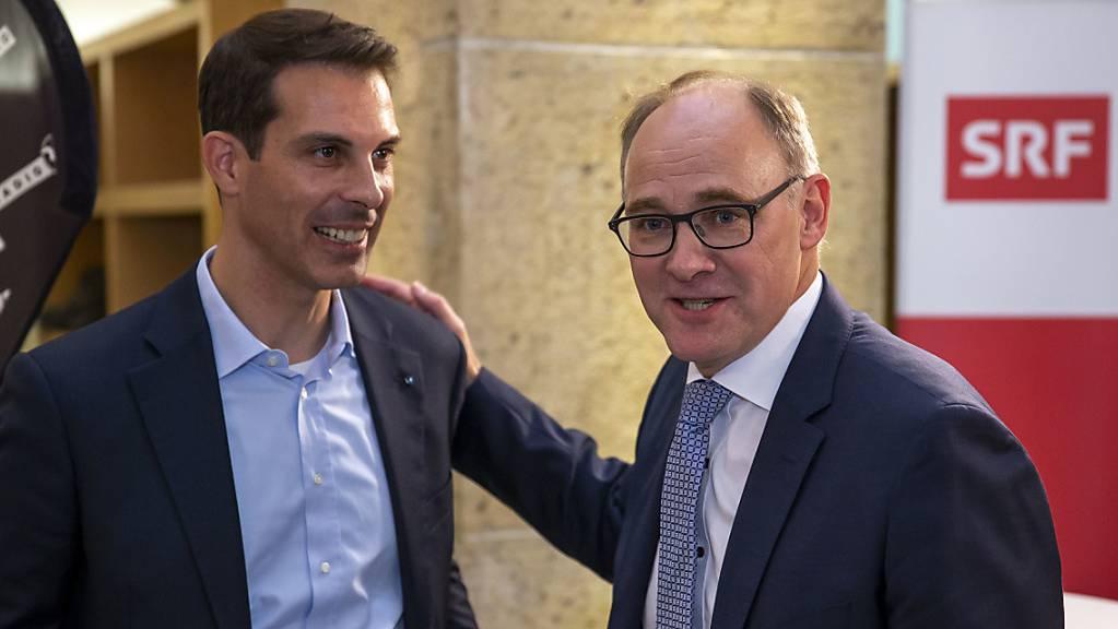 Bürgerliches Aargauer Duo: Thierry Burkart (FDP) und Hansjörg Knecht (SVP). (Archivbild)