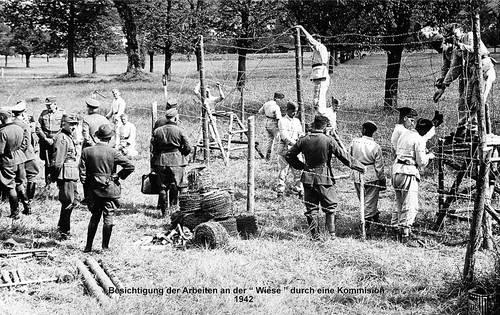 Besichtigung der Arbeiten an der «Wiese» durch eine Kommision 1942.