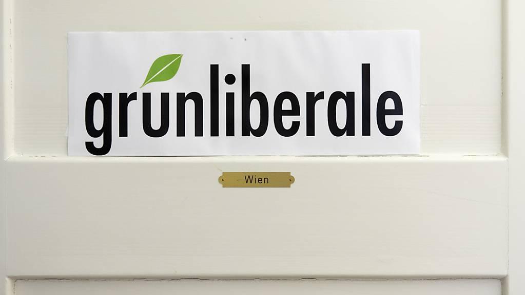 Das Logo der GLP im Generalsekretariat der GLP in Bern. (Symbolbild)