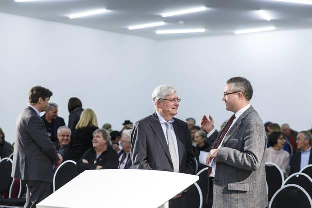 10 Jahre-Jubiläumsfest Kunsthaus Grenchen: Hanspeter Rentsch im Gespräch mit Remo Ankli