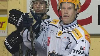 La-Chaux-de-Fonds' Régis Fuchs stand erstmals mit Sohn Jason auf dem Eis