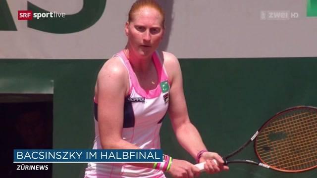 Timea Bacsinszky im Halbfinal