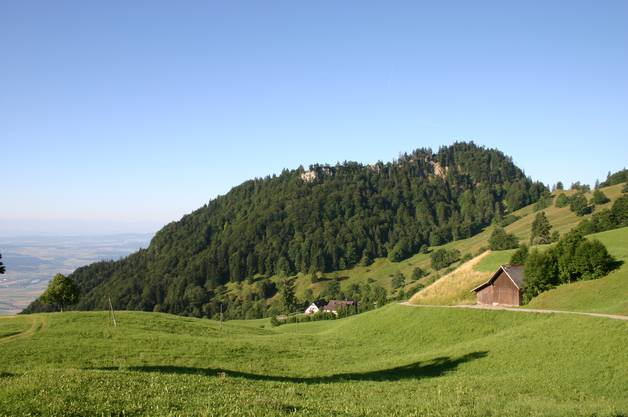 Gesamtansicht des oberen mittleren Brüggli – Bettlachstock