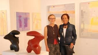 Sie bestreiten die aktuelle Ausstellung in der Galerie Artesol: Claudine Leroy und Margaret Perucconi.