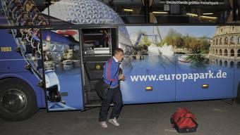 Ankunft der Spieler des FC Basel und Bayern-Muenchen im St.Jakob-Park