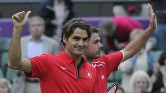 Olympia-Aus im Achtelfinal für Roger Federer und Stanislas Wawrinka