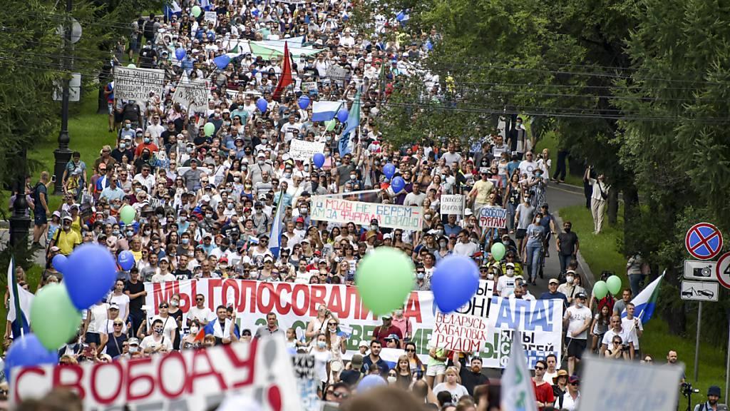 Massenproteste im äussersten Osten Russlands dauern an