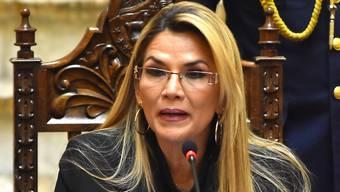 Führt seit dem Rücktritt von Präsident Evo Morales die Übergangsregierung in Bolivien an: die Rechtsgerichtete Jeanine Áñez. (Archivbild)