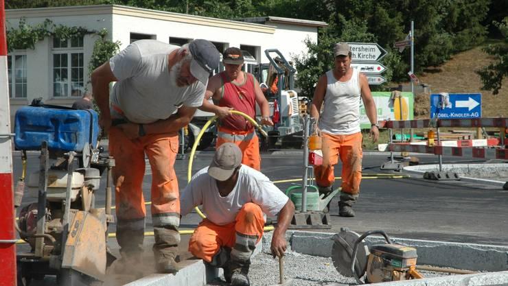 Die Strassenbauarbeiter haben die Herzen der Schinznacher erobert.  kus