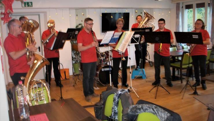 Die BMO beim Alterheimkonzert im Oasis in Trimbach
