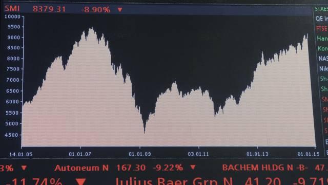Der Börsenindex der Grosskonzerne SMI sank auch am Freitag (Archiv)