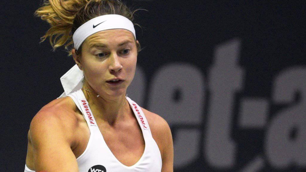 Stefanie Vögele strebt gegen Anna-Lenna Friedsam ihren ersten Viertelfinal-Einzug an einem WTA-Turnier seit einem Jahr an