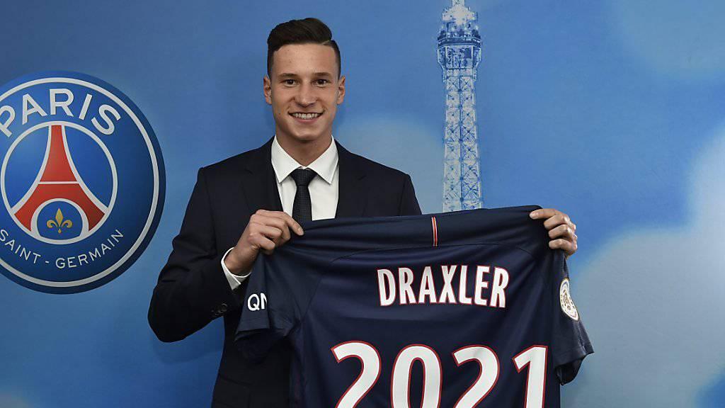Julian Draxler unterzeichnete bei Paris Saint-Germain einen Vertrag bis 2021