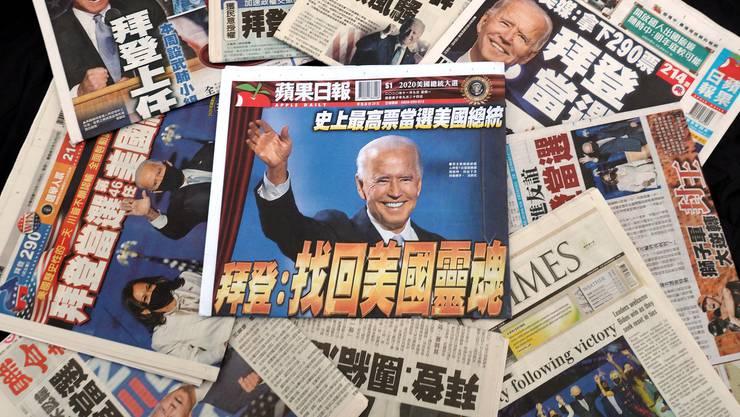 Taiwans Zeitungen feiern den Biden-Sieg. Doch nicht überall ist die Euphorie gleich gross.