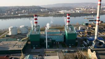 Blick auf ein Gaskraftwerk (Symbolbild)