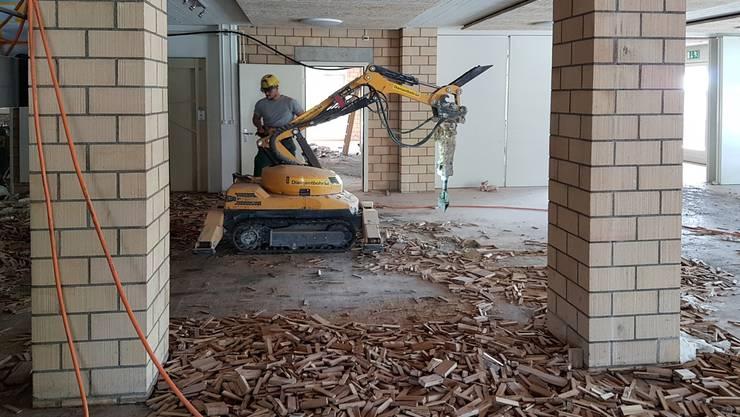 Ende April wurde mit den Umbauarbeiten gestartet.