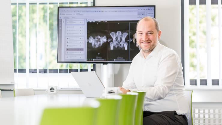 Nicolai Lütschg, Geschäftsführer von eHealth Aargau, freut sich, dass die Zertifizierung abgeschlossen ist.