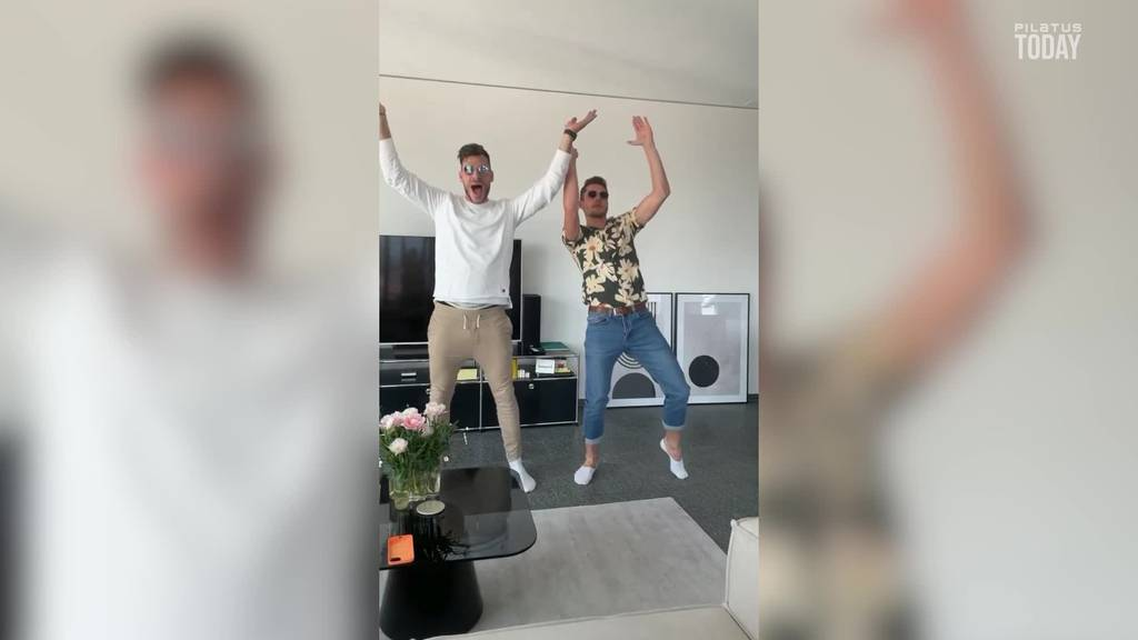FCL-Spieler «Mülli» und «Pasci» überraschen mit Tanzeinlage