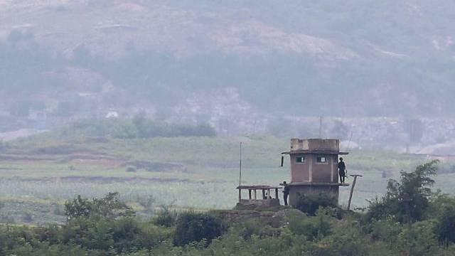 Wachposten an der Grenze zwischen Nord- und Südkorea (Symbolbild)