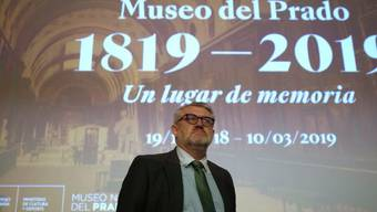 Direktor Miguel Falomir feiert den 200. Geburtstags des Museo del Prado in Madrid.