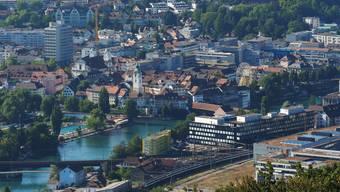 Blick vom Säli-Schlössli auf die Stadt Olten