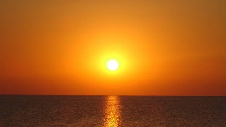 Wunderschöner sonnenuntergang auf der Insel Elba