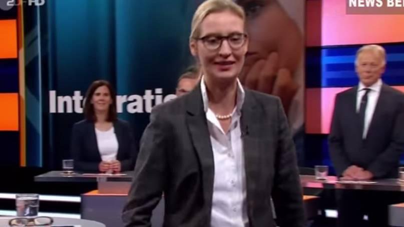 Alice Weidel verlässt nach Anfeindungen von Andreas Scheuer (CSU) die ZDF-Talkrunde.