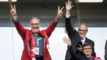 Bundesrat Parmelin verfolgte das Spiel vor Ort in Russland.