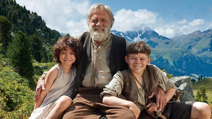 «Eine ganz grossartige Geschichte», sagt Bruno Ganz über Heidi, Alpöhi und der Geissenpeter in «Heidi».