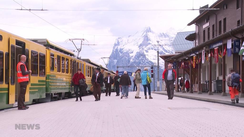 Stürmische Wiedereröffnung der Jungfraubahn